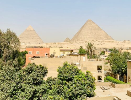 Waking Up in Giza, Rooftop View of the Pyramids